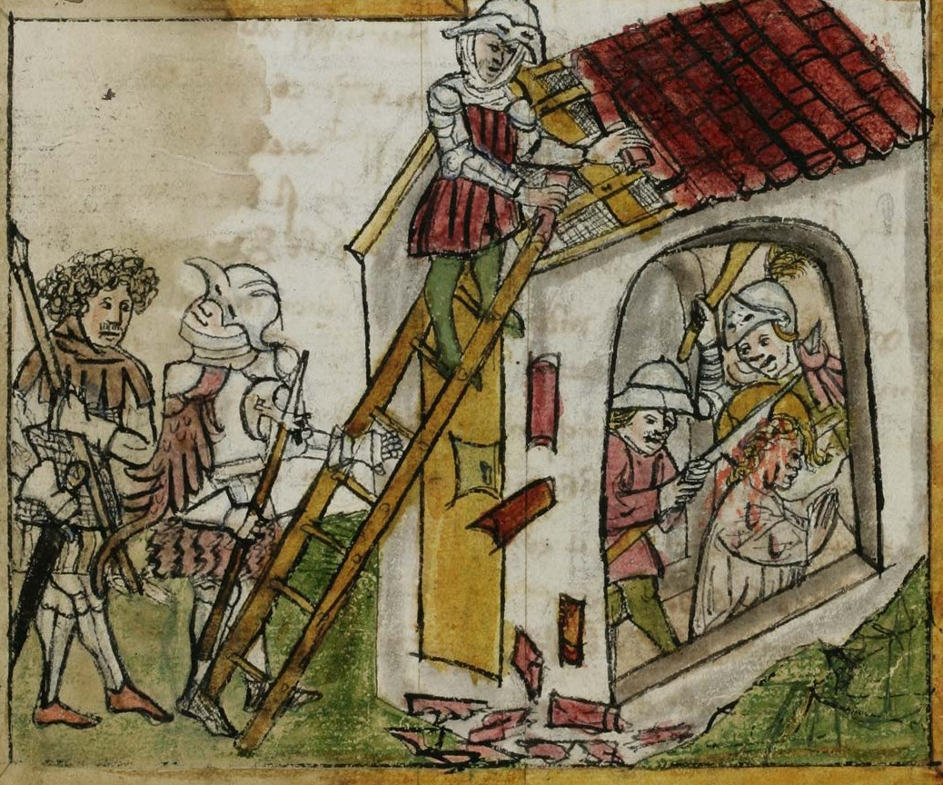 Wiborada, the anchoress of  St. Gallen, was slained by the Hungarian raid in 926